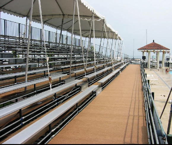 walkway-of-covered-bleachers