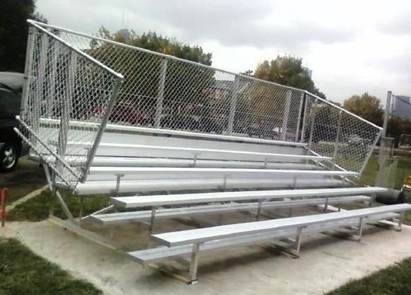 5-row-bleacher-with-chainlink-guardrail